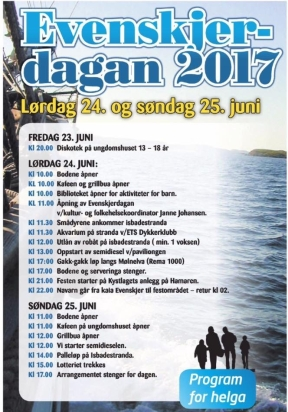 Program Evenskjerdagan 2017